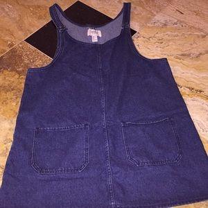Forever 21 denim sleeveless minidress w/pockets